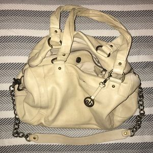 Leather Ivory Audrey Brooke, over-shoulder purse